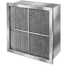 Air filter / panel / high-efficiency / high-temperature