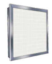 Air filter / panel / high-efficiency / pleated