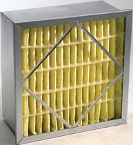 Air filter / panel / fine filtration / synthetic