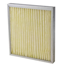 Air filter / panel / pleated / high-temperature