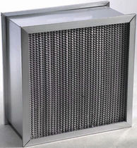 Air filter / panel / high-efficiency / watertight
