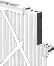 Air filter / activated carbon / panel / high-efficiency