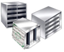 Activated carbon filter box / for air / metal