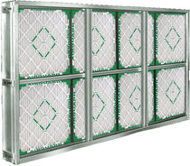 Pleated filter box / for gas / aluminum