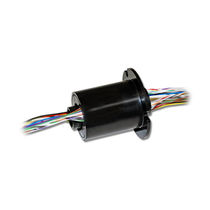 Through-bore slip ring / fiber brush