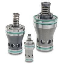 Poppet pressure relief valve