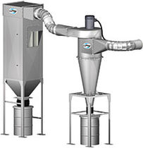 Inertial separator dust collector / pneumatic backblowing / high-efficiency