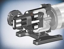 Chemical pump / magnetic-drive / external-gear / for the chemical industry