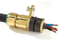 Brass cable gland / IP66 / for armored cables