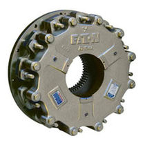 Multiple-disc brake / with pneumatic release / spring activated / hydraulic release