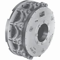 Multiple-disc brake / friction / with pneumatic release / hydraulic release