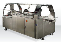 Three-flap carton sealer / hot-melt glue / automatic / high-speed