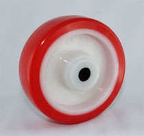Monobloc wheel / polyurethane-coated / injection-molded
