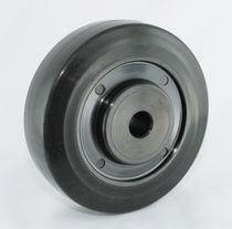 Wheel with solid tire / synthetic fiber / heat-resistant