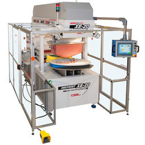 Pad printing machine with open ink cup / for satellite dishes / electropneumatic