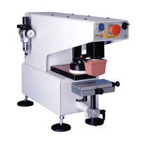 Pad printing machine with closed ink cup / automatic