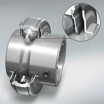 Ball bearing / insert / single-row / with cage