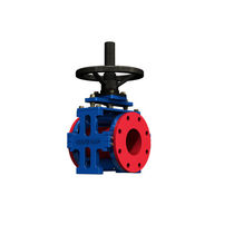 Pinch valve / pneumatic / flow control / for slurry