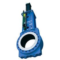 Knife gate valve / manual / shut-off / for slurry
