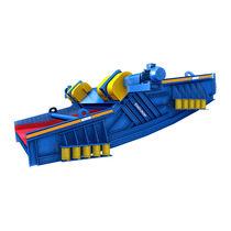Linear vibrating screener / for bulk materials / single-deck / banana