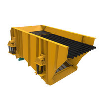 Linear vibrating screener / for bulk materials / for mining / inclined