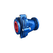 Swing check valve / flange / for corrosive liquids