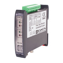 Fiber optic receiver / DIN rail