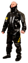 Chemical protection coveralls / rubber