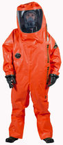 Chemical protection coveralls / PVC / with breathing apparatus