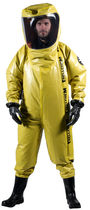 Chemical protection coveralls / nylon / with breathing apparatus