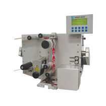 High-speed label applicator / blow-off / with servo-motor