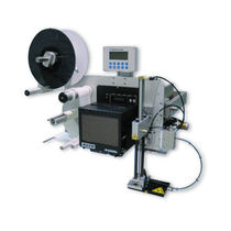 Single-color label printer-applicator / for labels / RFID label / automatic