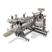 Automatic labeler / in-line / for bottles