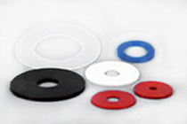 Flat suction cup / handling / rubber / for the food industry