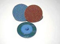Synthetic fiber abrasive disc / surface treatment / for metal / quick-change