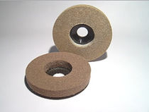 Synthetic fiber abrasive disc / for finishing / for stone / non-woven