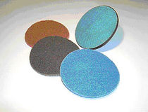 Synthetic fiber abrasive disc / for deburring / for metal