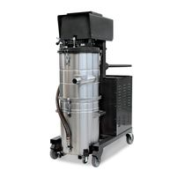 Oil and chip vacuum cleaner / three-phase / industrial / mobile