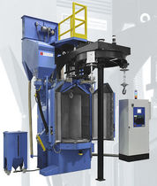 Hook shot blasting machine / suspended load / workpiece