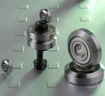 Roller bearing / deep groove / steel / V-form