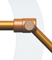 Siphon elbow with trunnions / pivot