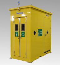 Floor-standing safety shower / indoor / outdoor