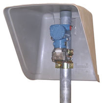 Protection hood for transmitters