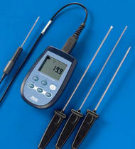 Digital thermometer / contact / portable / industrial