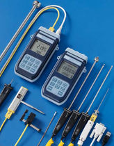 Digital thermometer / thermocouple / portable / with built-in printer