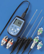 Digital pressure gauge and thermometer / differential / process