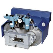 2-piston hydraulic pump / air-driven / high-capacity
