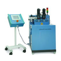 Adhesive mixing and metering unit