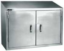 Storage cabinet / hinged door / wall-mount / stainless steel