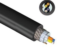 Power distribution cable / oil-resistant / flexible / for wind turbines